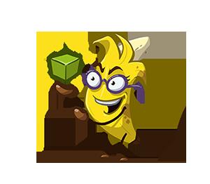 Caro as a banana, conjuring a cube